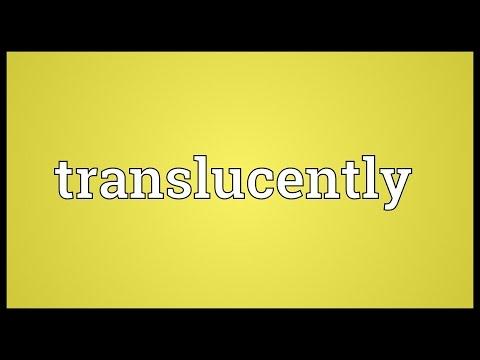 Header of translucently
