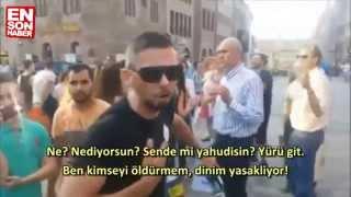 İsrailli göstericilere kafa tutan Türk