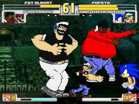 Fat Mario vs Fat Sonic Fat Albert And Super Mario vs
