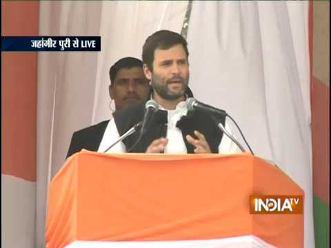 LIVE: Rahul Gandhi Addresses Election Rally at Jahangirpuri, Delhi - India TV
