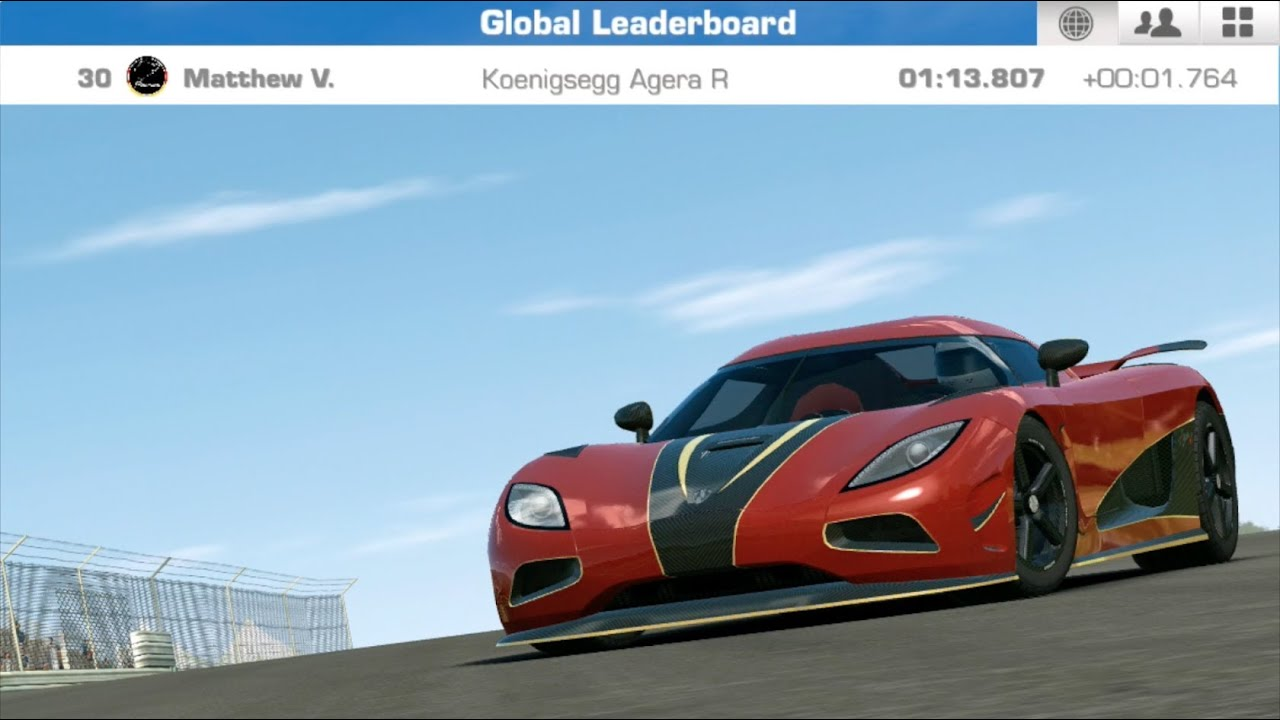 real racing 3 koenigsegg agera r hockenheimring grand. Black Bedroom Furniture Sets. Home Design Ideas