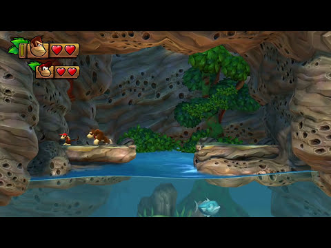 Donkey Kong Country Tropical Freeze: Co-Op Diddy Joins PART 1 (Wii U HD Gameplay Walkthrough Coop)
