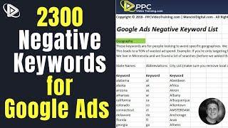 Google Ads Negative Keword Lists | Adwords Negative Keywords