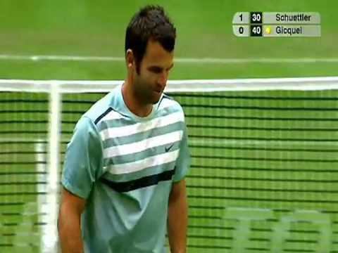 Great diving Volley by Marc Gicquel