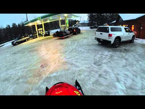 Snowmobiling in Pelican Lake Wisconsin go pro hd