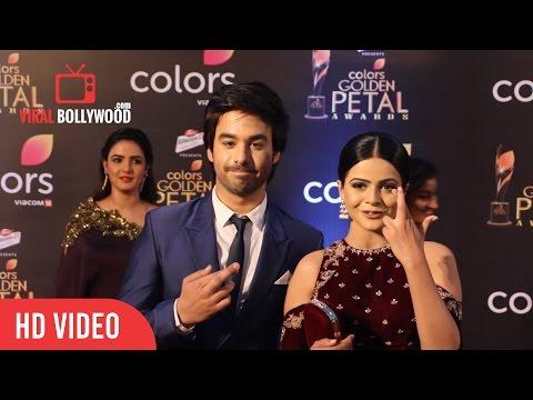 Thapki - Jigyasa Singh And Manish Goplani At Colors Golden Petal Awards 2017   Viralbollywood