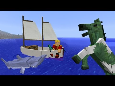 MineCraft 1.6 Snapshot 13w17a Sail Boats. Fishing. Undead Horses!