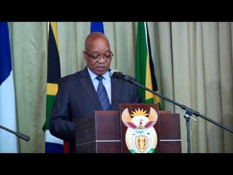President of France Francois Hollande's state visit to South Africa