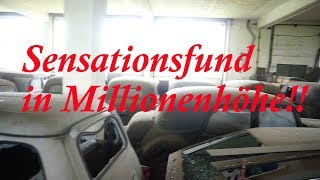 Lost Place Sensationsfund in Millionenhöhe!!!!!! Die Oldtimer Garage