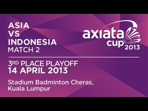 3rd Place Playoff - MS - Lee Hyun Il (ASIA) vs Dionysius Hayom Rumbaka (INA) - Axiata Cup 2013