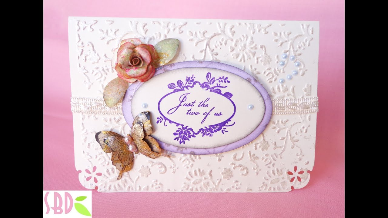 Scrapbooking Card Matrimonio Con Tasca Wedding Card