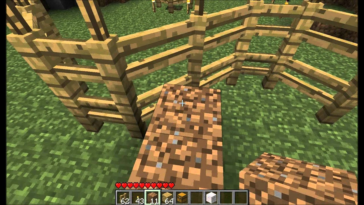 How To Build A Fence In Minecraft