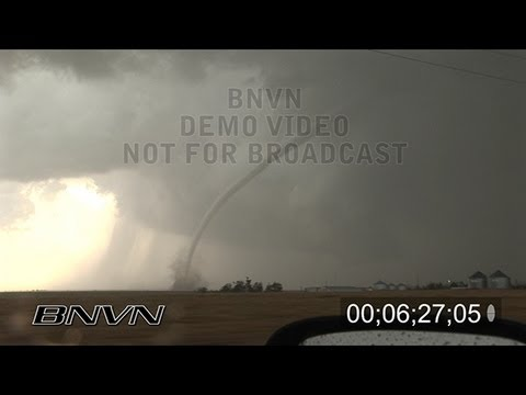 5/22/2008 Tornado Outbreak Video from Grinnell, KS, Collyer KS and Wakeeney KS