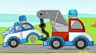 Lego Duplo Playground Tow Trucks | Police Car, Constructions Cars | Cartoon Lego Games For Children