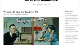 Katherine Smith of 'Save Our Landlines!' on NewsTalkZB, 24/5/18