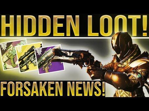 Destiny 2 Forsaken. SECRET LOOT! Gambit Exotic, Ammo Update, Future Iron Banner, Black Spindle... thumbnail