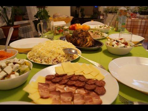 Праздничный стол/ Готовлю закуски, салатики и горячее/ сервировка стола