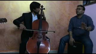 Hai apna dil to awara Bollywood song covered by Indian cellist