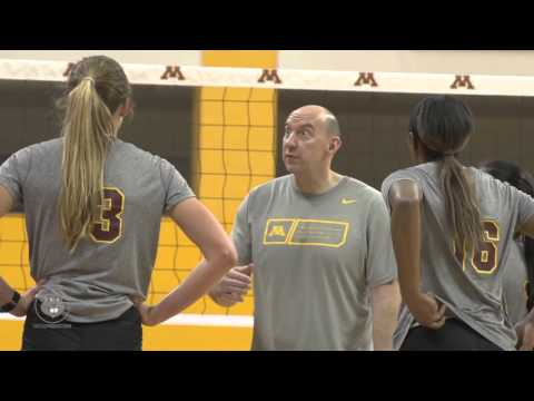 2016 Gopher Volleyball Spring Practice Video
