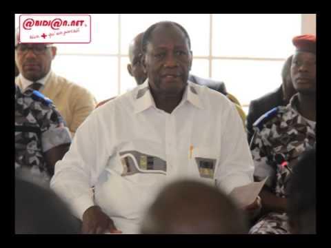 Le Président Alassane Ouattara echangé avec les cadres et chefs d'Agboville