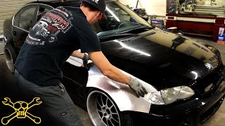 Handmade Aluminum Widebody BMW E46 | Inside Cutworm Specialties