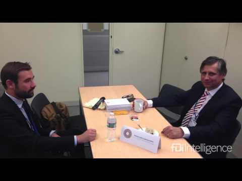 Interview with Jan Fischer, minister of finance in Czech Republic, at IMF 2013