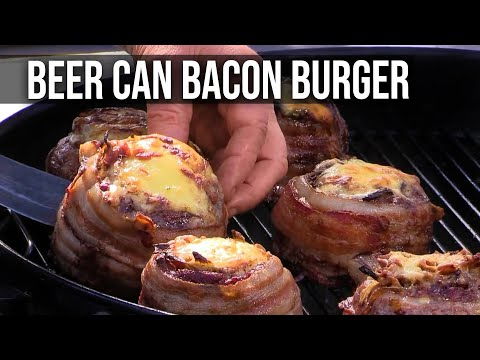 Guy uses beer can to create the best burger meats you've ever seen
