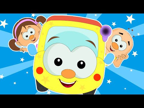 Wheels On The Bus Go Round And Round | Popular Nursery Rhymes for Kids | HooplaKidz TV