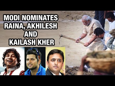 PM Modi nominates Suresh Raina, Kailash Kher and Akhilesh Yadav for Swachh Bharat in Varanasi