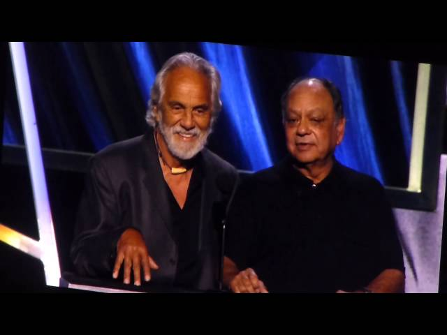 Cheech and Chong comedy (Lou Adler) 2013 Rock n Roll HOF induction ceremony - 4.18.13