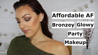 Affordable AF Festive Party Makeup | Bronzey, Glowing Tutorial