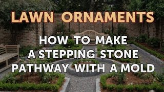 How to Make a Stepping Stone Pathway With a Mold