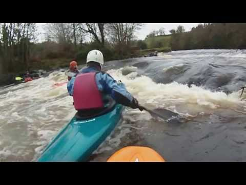 The Causeway Coast Kayak Association - Running the River Roe Limavady - On New years Day.