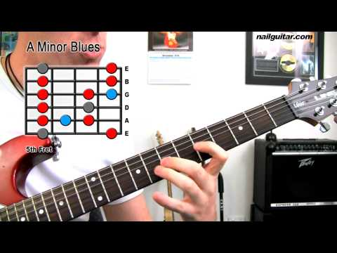A Minor Blues Scale - Guitar Lesson (Must Learn For Rock & Blues Soloing)
