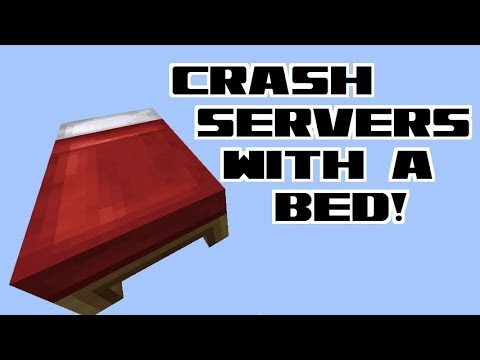 How to Crash Servers with a Bed! 1.12.1-1.7 Vanilla Survival   Ray's Works