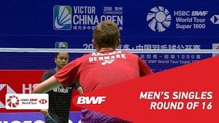 R16 | MS | Viktor AXELSEN (DEN) [1] vs Anthony Sinisuka GINTING (INA) | BWF2018