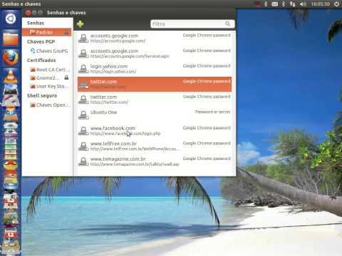 Como remover a Senha do Chaveiro padrão no Ubuntu 12.10
