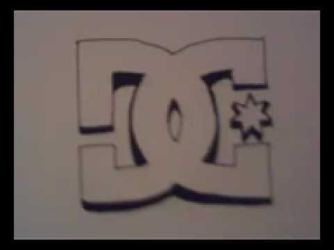 How to draw a dc shoes logo youtube for Draw my logo