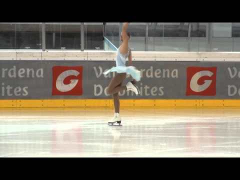 Polina Edmunds USA Val gardena spring trophy 2013 junior ladies free