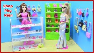 Hướng Dẫn Làm Shop Phụ Kiện & Trang Sức Và Giày Dép Cho Búp Bê _ phần 1(đồ chơi trẻ em) chị bí đỏ