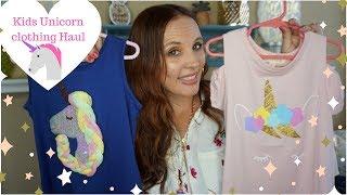 Unicorn 🦄 Kids clothing Haul! What stores I shop to save money on clothing