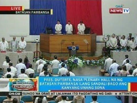 BP: Pres. Duterte, nasa plenary hall na ng Batasan Pambansa