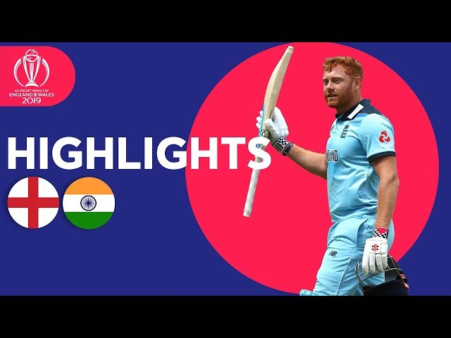 Bairstow Leads England To Victory  England vs India - Match Highlights  ICC Cricket World Cup 2019