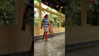 Modelling fashion show by little girl