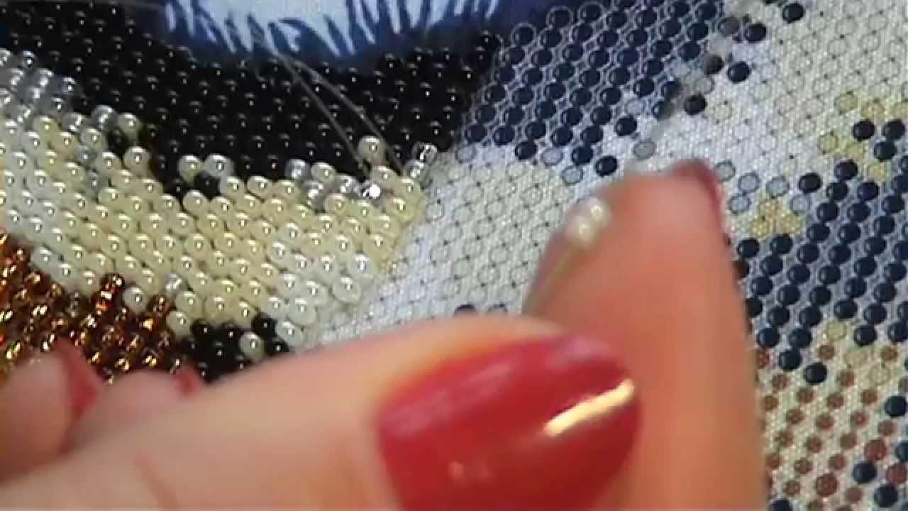 Вышивка в круговой технике видео