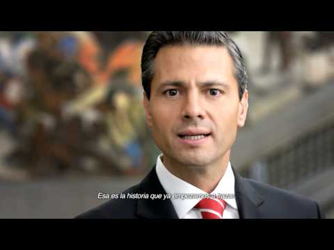 Primer Informe de Gobierno Presidente Peña Nieto Mural