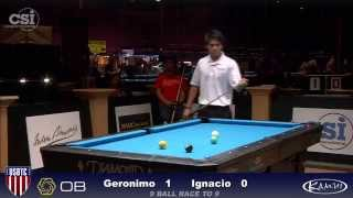 2015 USBTC 9-Ball: Rodrigo Geronimo vs Jeffrey Ignacio