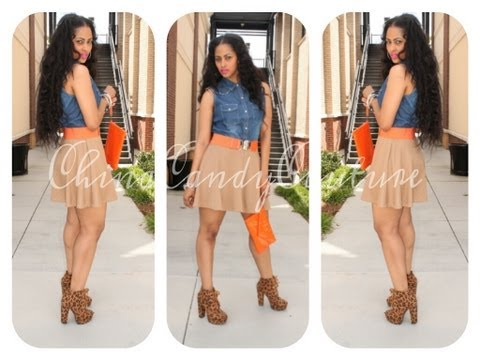 SKATER SKIRT & DENIM!!!   SPRING 2013 OOTD - CHINACANDYCOUTURE