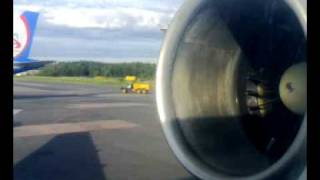 Tupolev 154 start, taxi and takeoff