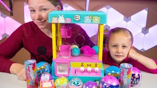 Moj Moj Surprise Toys Claw Machine Surprizamals Surprise Eggs Squishy Toy for Girls Kinder Playtime